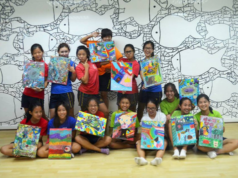 Art Jam with Methodist Girls' School (MGS) Softball Team