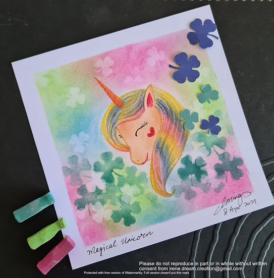 Magical Unicorn - Fun with Japanese Pastel Nagomi Art (JPNA)