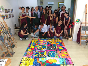 Corporate team building with Art Jamming