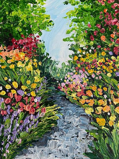Forest Stream & Flower Garden (2 Weeks Beginner Knife Painting Workshop)