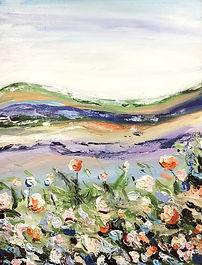 Floral Landscape (Palette Knife Painting Workshop)