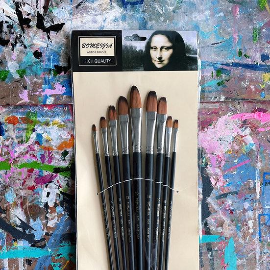 Artist Brush Set (9-pc)