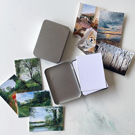 Acrylic Paper Tin Box