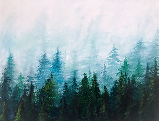 Misty Forest (Acrylic Painting Workshop)