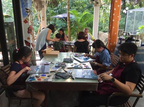 Knife Painting Workshop @ The Coastal Settlement