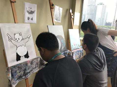 Corporate Art Jam with SCDF (Singapore Civil Defence Force)