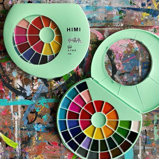 38-Colours Semi Moist Watercolour Set