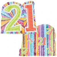 21 supershape radiant birthday balloon