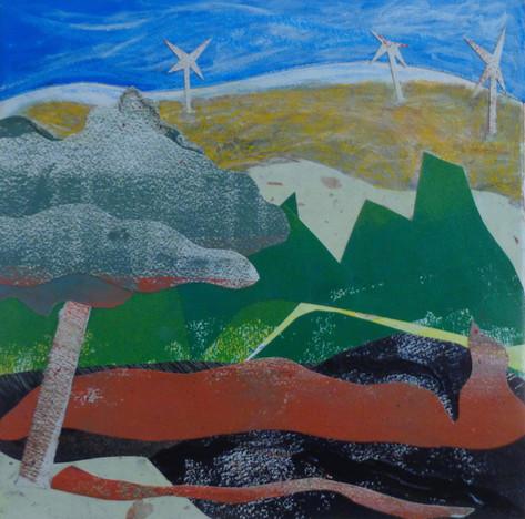 Windmills On Burned Hills