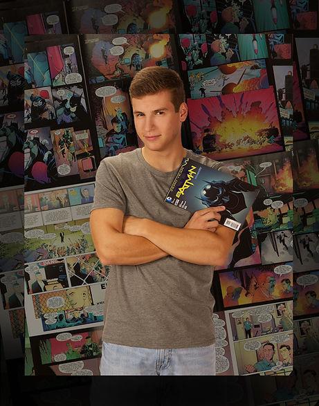 Senior Photo with Comics