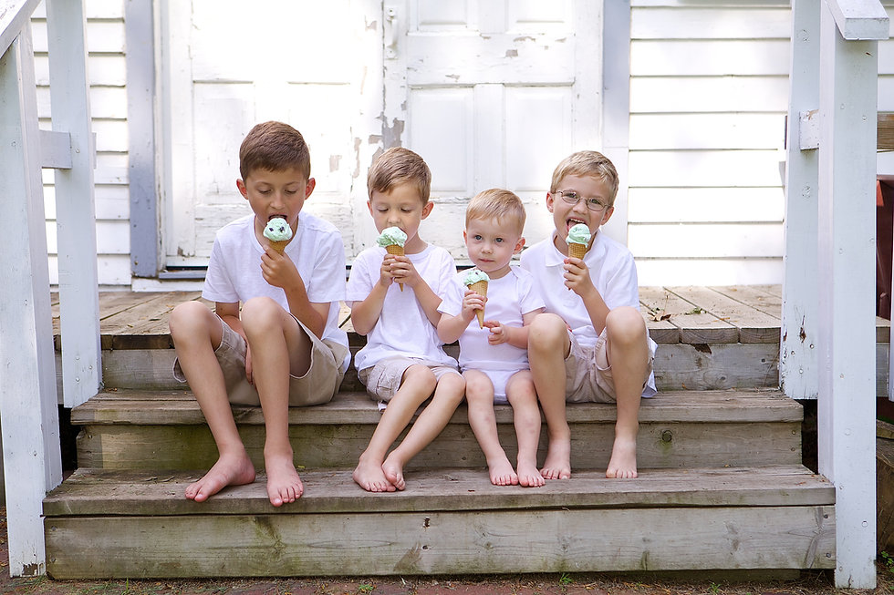 Boys Eating Icecream Photo