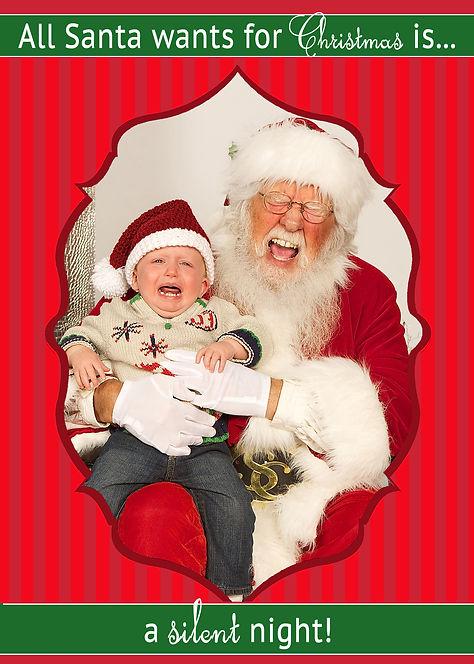 Crying Baby Santa Photo