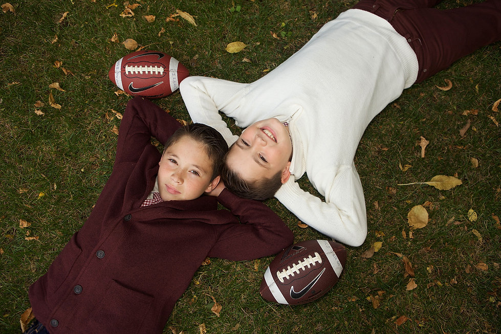 Boy's Football Fall Photo