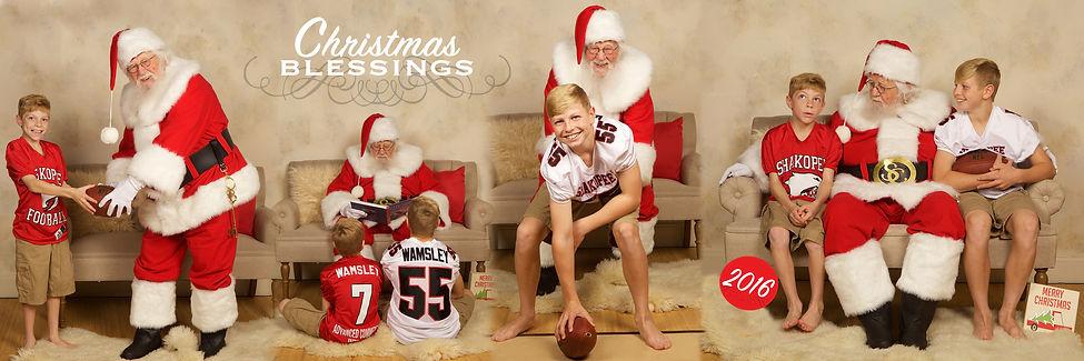 Santa Christmas Card Photo