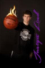 Senior Basketball Photo on Fire