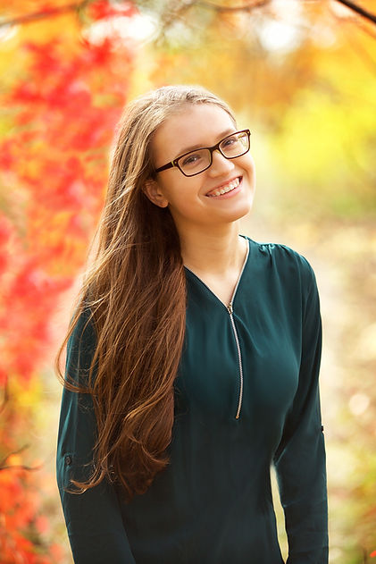 Fall Girl Senior Photo
