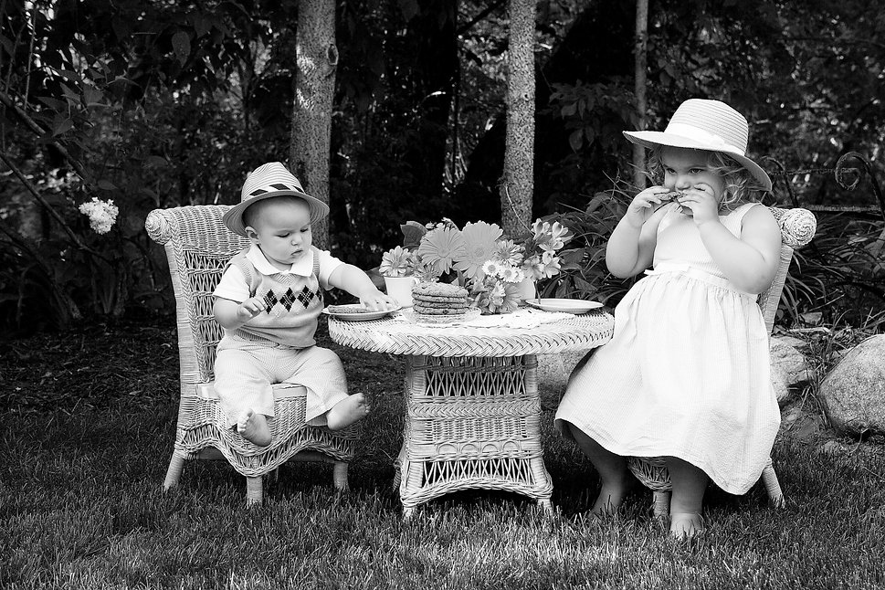 Black and White Children's Photo
