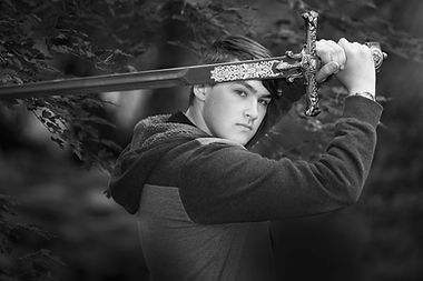 Senior Photo with Sword