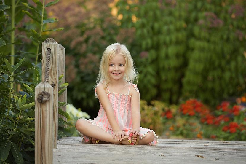 Little Girl on a Dock Photo