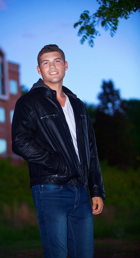 Leather Jacket Senior Photo