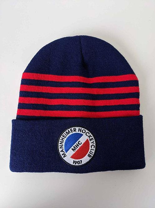 Mütze navy mit roten Streifen