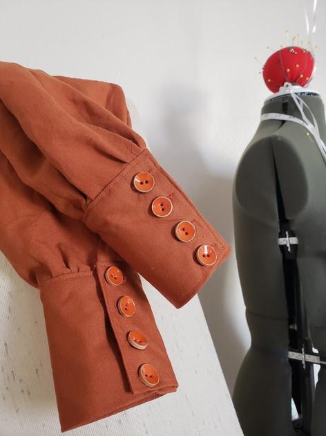 Terra Cotta Linen Work Wear