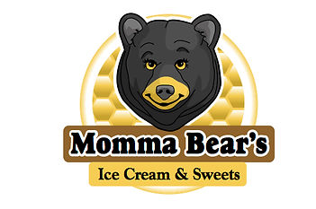 Momm Bear's Ice Cream & Swets Logo