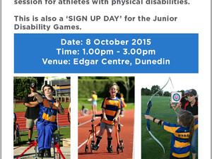 ParaFed Otago Athletics Session
