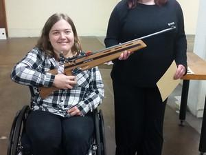 ParaFed Otago tries Smallbore Rifle Shooting