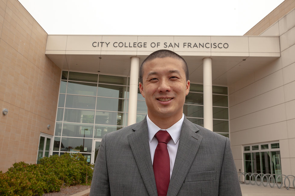 Alan Wong - In front of Wellness Center