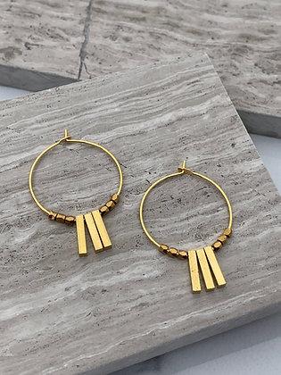 "FRÜG ""Kai"" Brass Bar Earrings"