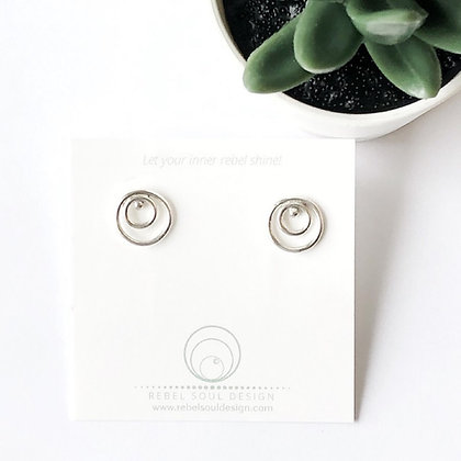 REBEL SOUL 'Circles Post' Earrings RSE04