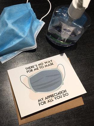 Mask Appreciation thank you card
