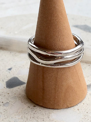 STERLING Waves Ring