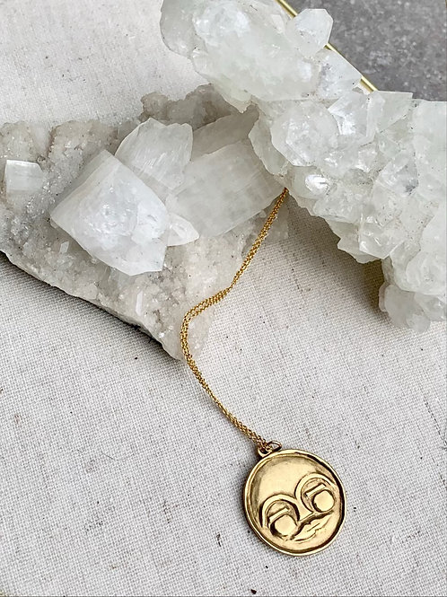 MAWU ~ Moon Goddess Necklace in Bronze or Sterling