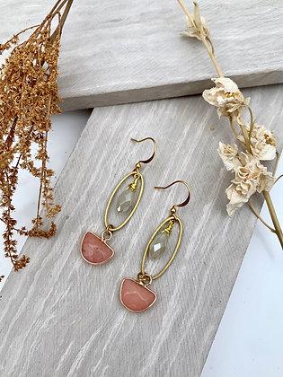 FRÜG 'Karleen' Rhodonite  & Vintage Glass Earrings