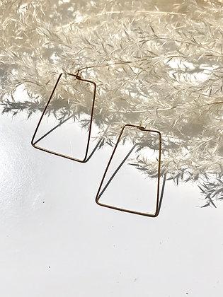 """FRÜG - """"Ebba"""" Brass Wire Earrings"""