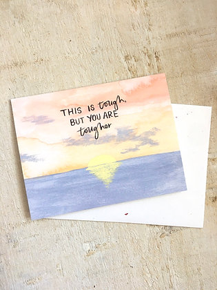 This is Tough - Encouragement Card CR49