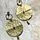 Thumbnail: Circular Hammered Brass Earrings FEA74