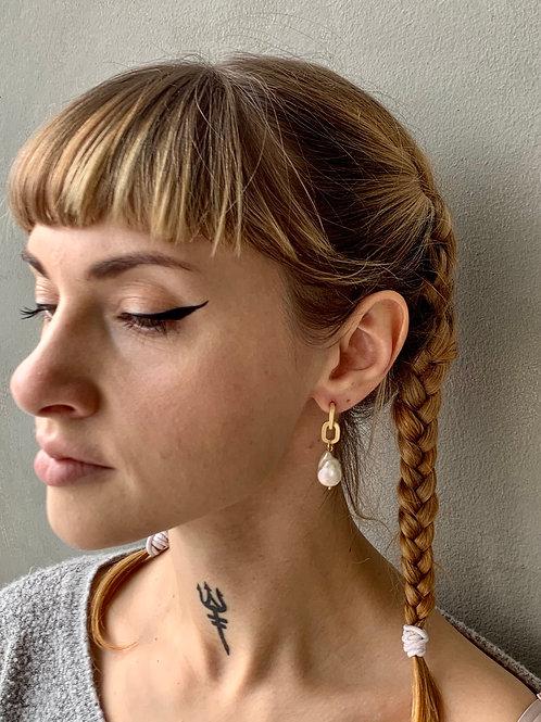 Pearl+ Chain Link Earrings FEA05