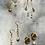 Thumbnail: Pearl + Crescent Moon Earrings FEA40