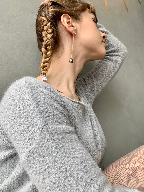 Mauve Pearl Drop Earrings FEA11