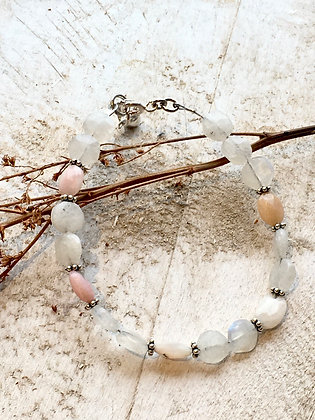 HOUSE LINE Moonstone & Sterling Bracelet