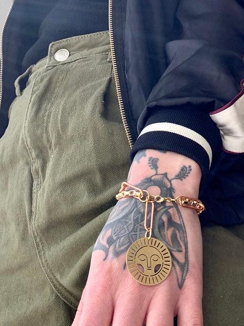 Celestial Charm Bracelet with Vintage Chain FBA09