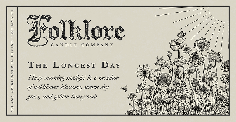 FOLKLORE 'Longest Day' Candle AT52
