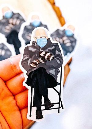 Bernie Sanders Mittens Inauguration Sticker