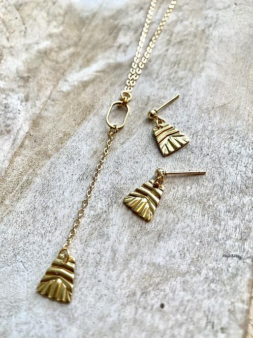 Geometric Necklace + Earrings  FNA73SET