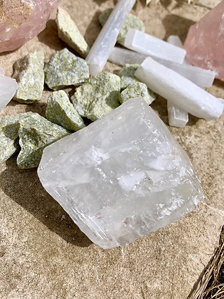 Raw Clear Calcite Specimen (delivery/in store pick up only)