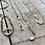 Thumbnail: Rectangular Pearl and Heart Chain Bracelet FBA17