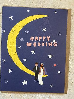 "Happy Wedding Card - ""Moonlight Wedding"" CR61"